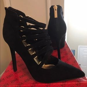 Guess Shoes - Guess Black Heels W Zipper, 6. NWOT